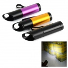 9-LED White Light Flashlight w/ Bottle Opener - Black + Golden (3 x AAA / 3 PCS)