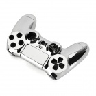 ABS Cases + Joystick Caps + Keys Set for PS4 Controller - Silver
