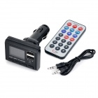 Doble USB MP3 player con control TF / FM / remoto - negro + blanco
