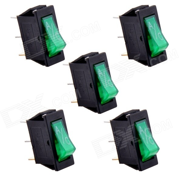 DIY A/C 3-pin Switches - Black (5PCS / 12V)