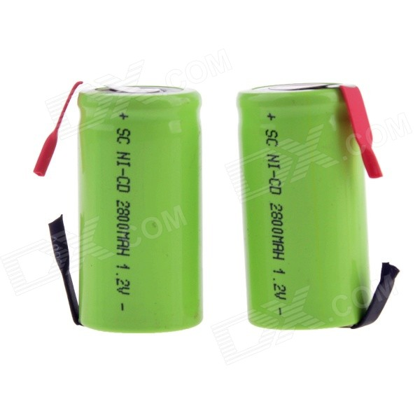 "2015DY-04 1.2V ""2800mAh"" SC-type Rechargeable Ni-MH Battery (2PCS)"