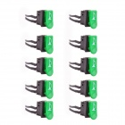 AYA-012 DIY Electric Vehicles Horn Sign Button Switches - Black + Bluish Green (10 PCS)