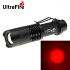 Ultrafire xp-e R5 180lm rouge lampe de poche zoomable 5-Mode 1 * 18650)
