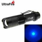 UltraFire XP-E R5 LED Zoomable Flashlight Blue Light 5-Mode 180lm - Black (1 x 18650)