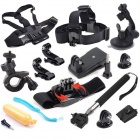 12-in-1 Outdoor Sports Essentials Kit for GoPro HERO 4 / 3+ / HERO 3 / HERO 2 / SJ4000 - Black