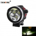 KINFIRE P08 1500lm 3-LED 4-Mode Cool White Bike Light Headlamp w/ 8.4V Battery Pack (6 x 18650)