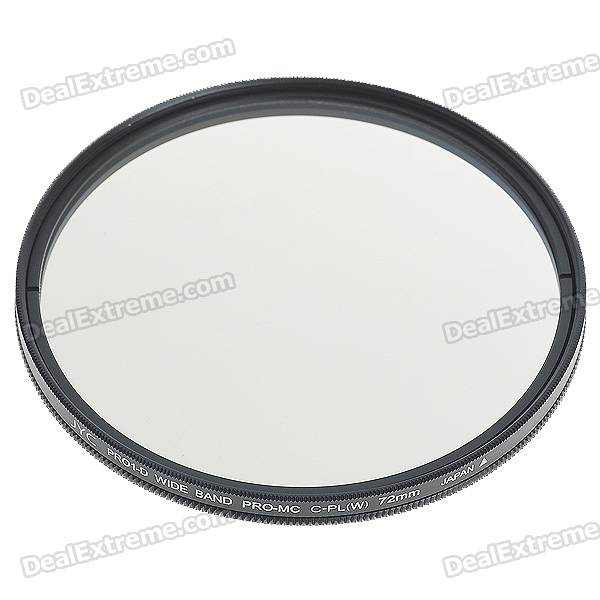 PRO1-D Super Slim Wide Band CPL Filter for Digital Camera (72mm Diameter)