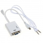 CY MH-031-WH MHL Micro USB 11pin to VGA Adapter for Samsung Galaxy S3 / S4 / S5 / NOTE 3 / 4