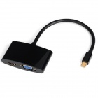 CY DP-079-BK Mini DP Thunderbolt to VGA & HDMI Adapter Cable