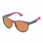 OREKA K356 Retro Style Round Red REVO Lens UV400 Sunglasses - Gray + Red