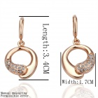 LKN18KRGPE035 Women's Gold Plated Alloy Crystal Earrings - Gold