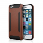 FHI6-Bb Protective Hard PC Cover + TPU Back Case w/ Non-Slip Strip for IPHONE 6 - Black + Brown