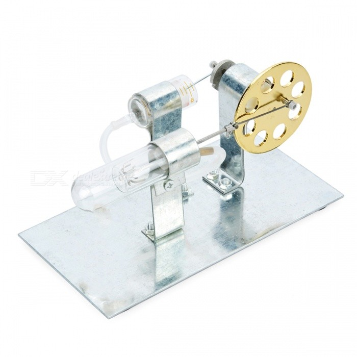 DIY Heat Power Stirling Engine Educational Toy - SilverEducational Toys<br>Form ColorSilverMaterialIronQuantity1 setSuitable Age 12-15 years,Grown upsPacking List1 x Iron plate2 x Support2 x Test tubes1 x Alcohol lamp1 x Tube1 x Motor1 x Wheel<br>
