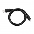 USB 3.1 Type-C to A Male + B Male Connecting Cable for Printer - Black (100cm)