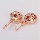 LKN18KRGPE240 Women's Skeleton Ball Rhinestone Earrings - Gold