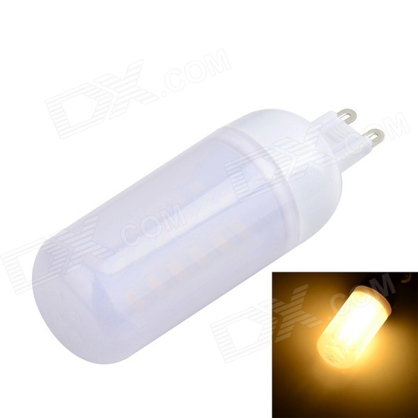 G9 8W 800lm 3000K 48-SMD 5730 LED Warm Whit Lamp (220~240V)G9<br>Form  ColorWhiteColor BINWarm WhiteModelG48MaterialPlastic + aluminumQuantity1 DX.PCM.Model.AttributeModel.UnitPower8WRated VoltageAC 220-240 DX.PCM.Model.AttributeModel.UnitConnector TypeG9Chip BrandHugaChip TypeLEDEmitter TypeOthers,5730 SMDTotal Emitters48Actual Lumens600~800 DX.PCM.Model.AttributeModel.UnitColor Temperature3000KDimmableNoBeam Angle360 DX.PCM.Model.AttributeModel.UnitCertificationCE, RoHSPacking List1 x LED bulb<br>