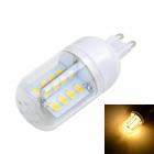 Marsing G9 5W Corn Lamp Bulb Warm White 3000K 500lm SMD 5730 - White + Yellow (AC 220~240V)