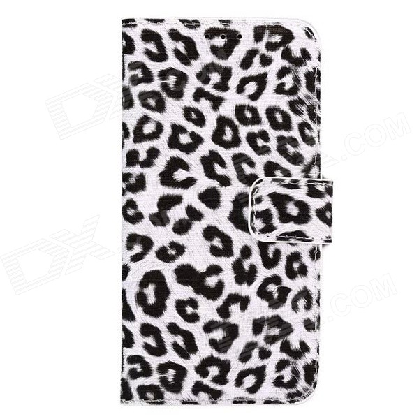 ENKAY Leopard Print Case w/ Card Slots for Samsung S6 - White + BlackLeather Cases<br>Form ColorWhite + BlackModelN/AMaterialPU leatherQuantity1 DX.PCM.Model.AttributeModel.UnitShade Of ColorWhiteCompatible ModelsSamsung Galaxy S6 G9200Packing List1 x Protective case<br>