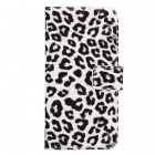 ENKAY Leopard Print Protective PU Case Cover w/ Stand & Card Slots for Samsung Galaxy S6 G9200