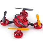 YU520 2.4GHz 4-CH 6-Axis Remote Control RC Mini Quadcopter w/ Gyro / Camera - Dull Red + Black