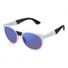 OREKA K356 Personalized Retro UV400 Protection PC Frame Blue REVO PC Lens Sunglasses - White