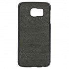 XC Wood Grain Protective PC + TPU Back Case for Samsung Galaxy S6 - Black