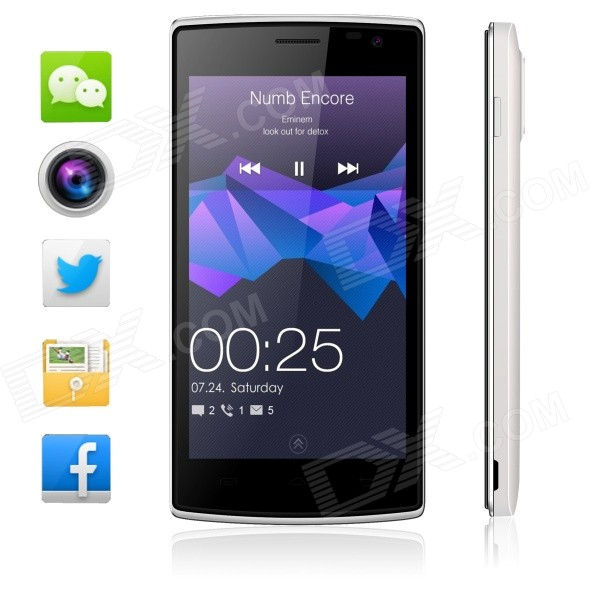 Blackview Breeze MTK6582 Quad-core Android 5.0 WCDMA Bar Phone w/ 4.5″, FM, Wi-Fi and GPS – White