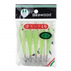Luminous 5PCS Simulation Fishing Baits w/ Hook Gear - Green