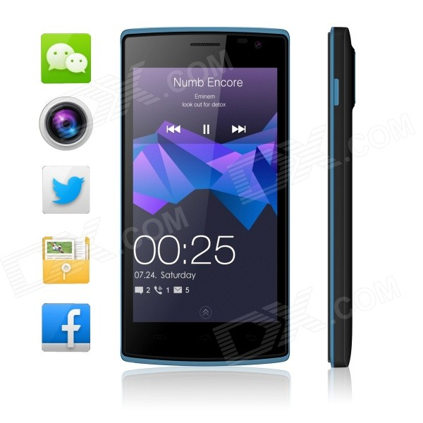 Blackview Breeze MTK6582 Quad-core Android 5.0 WCDMA Bar Phone w/ 4.5″ FM, Wi-Fi and GPS – Black