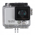 "X5 Wi-Fi FHD 2K Waterproof 12MP Sports Camera DV w/ 2"" LCD / 170 Degree Wide Lens - Silver"