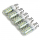 JRLED B22 9W LED Corn Lamp White Light 6450K 300lm 48-SMD 5730 - White + Yellow (AC 220~240V / 5PCS)