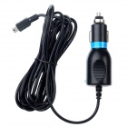 5V 2A Car Charger w/ Mini USB Cable for Camcorder / GPS - Black (12~24V)