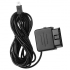 Mini USB 8~36V to DC 5.5V OBD Voltage Step Down Power Converter Cable for Car DVR Camcorder - Black
