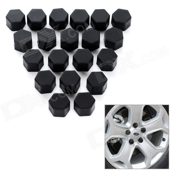 Universal 19 Silicone Car Wheel Hub Screw Cap Cover
