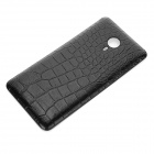 Alligator Pattern Protective Plastic Case for Meizu MX4 Pro - Black
