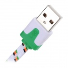 Retractable USB2.0 M to Micro USB M Charging Cable for Samsung - White