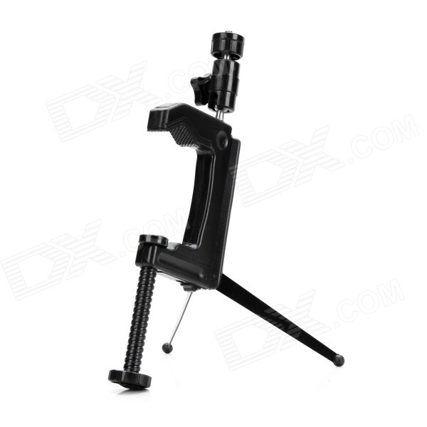 Camera Mount Holder w/ Tripod Adapter for GoPro Hero 2 3 3+ 4 - BlackMounting Accessories<br>Form  ColorBlackQuantity1 DX.PCM.Model.AttributeModel.UnitMaterialABSShade Of ColorBlackCompatible ModelsGoPro Hero 2,GoPro Hero 3,GoPro Hero 3+,GoPro Hero 4RetractableNoMax.Load1500~2000 DX.PCM.Model.AttributeModel.UnitPacking List1 x Adjustable mount holder1 x Tripod adapter<br>