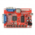 VGA to CGA / PC to TV High to Low Resolution Game Video Decoding Card - Red