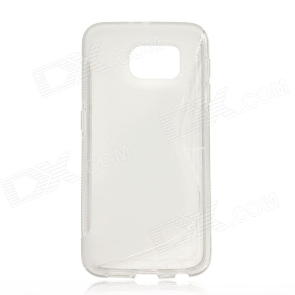 S-Pattern TPU Back Case Cover for Samsung Galaxy S6 - Translucent