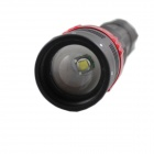 KINFIRE 650lm 5-mode XM-L T6 LED Red + White Zoomable SOS Flashlight