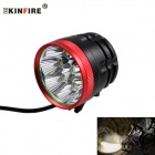 KINFIRE KX80R XM-L T6 Bike Light Headlamp Cold White 3-Mode 4000lm w/ Battery Pack (6 x 18650)