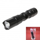 Portable Water Resistant 3W 40lm Mini White Light LED Flashlight - Black (1 x AA)