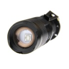 ultrafire XD-98H 1-LED UV lilla lys zoomable lommelykt sett - sort