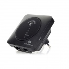 2.4/5GHz 802.11a/b/g/n 300Mbps Wireless Wi-Fi Repeater - Black (AC 100-240V)
