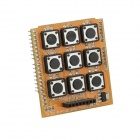 3x3 Independent Key Pad Shield for Arduino - Orange + Black