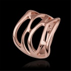 LKN18KRGPR533-8 Women's Hollowed-Out Ring - Rose Golden (US Size 8)