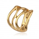 Women's Hollowed-out Gold-Plated Ring - Golden (US Size 8)