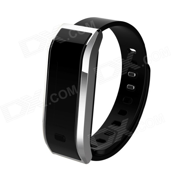 TW07 Bluetooth 4.0 Smart Armband Call Reminder-Sleep Monitoring-Activity Tracker zilverwit