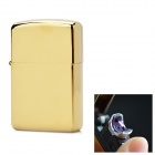 P1032 USB Rechargeable Windproof Arc Pulse Electronic Cigarette Lighter - Golden