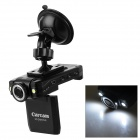 "2.0"" TFT 1080P HD CMOS 140' Wide-Angle 2-LED Night Vision Car DVR Recorder Camera Camcorder - Black"